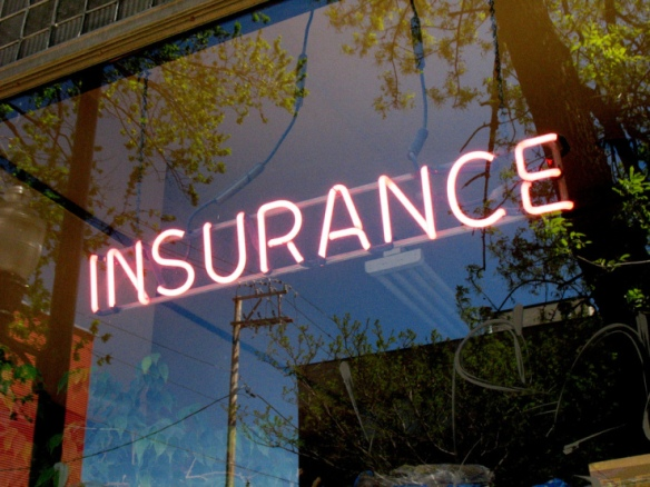 insurance neon sign
